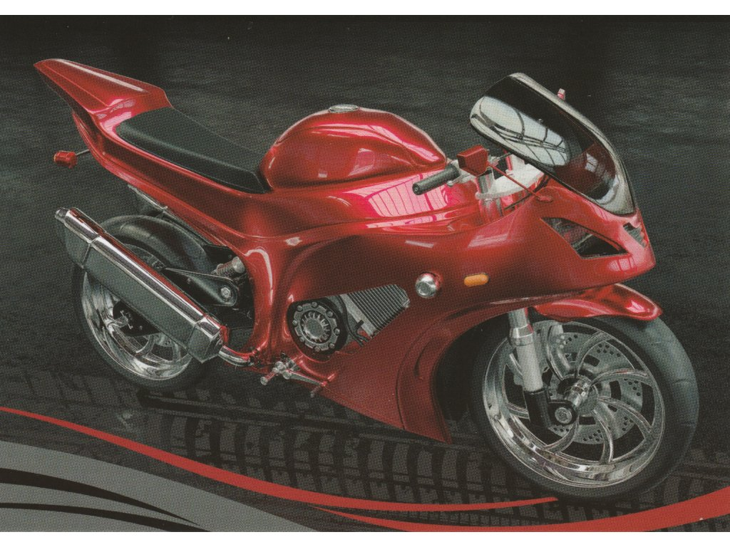 Postcard Modern motorbike 1