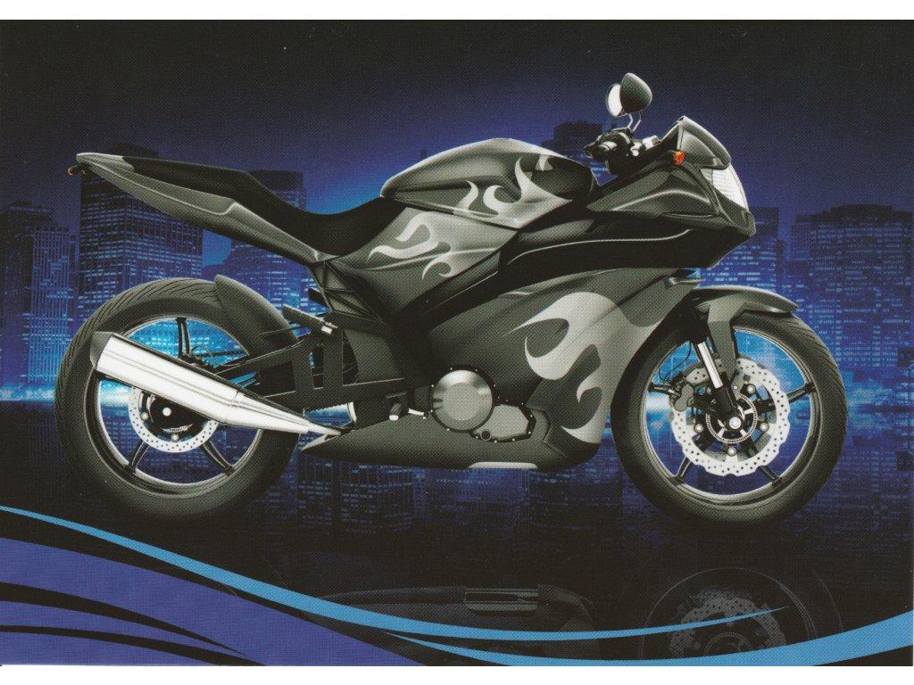 Postcard Modern motorbike 2