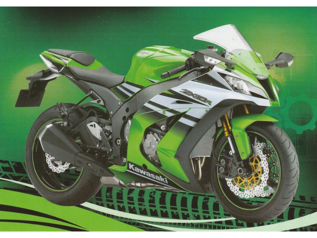 Postcard Modern motorbike 4