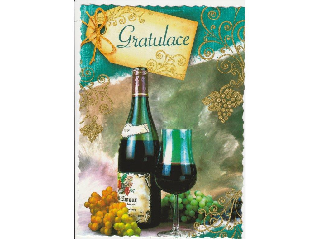 Postcard Congratulation 12, glittered