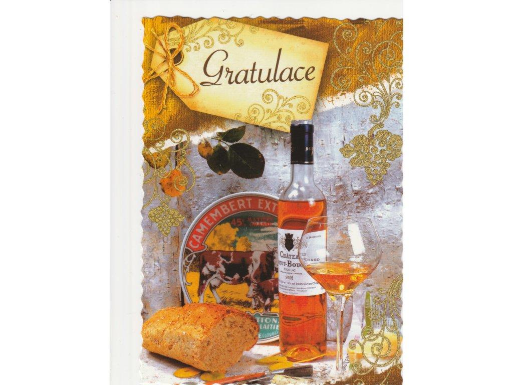 Postcard Congratulation 14, glittered