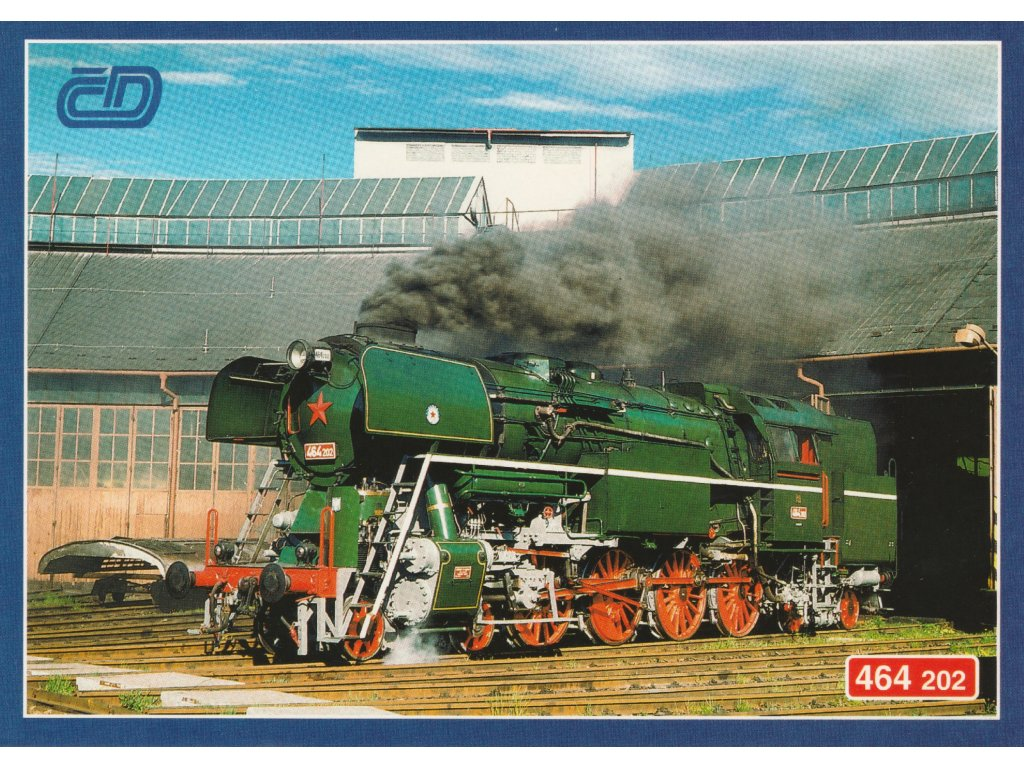 """Postcard Trains - """"Tree frog"""" (464.202) in depot"""