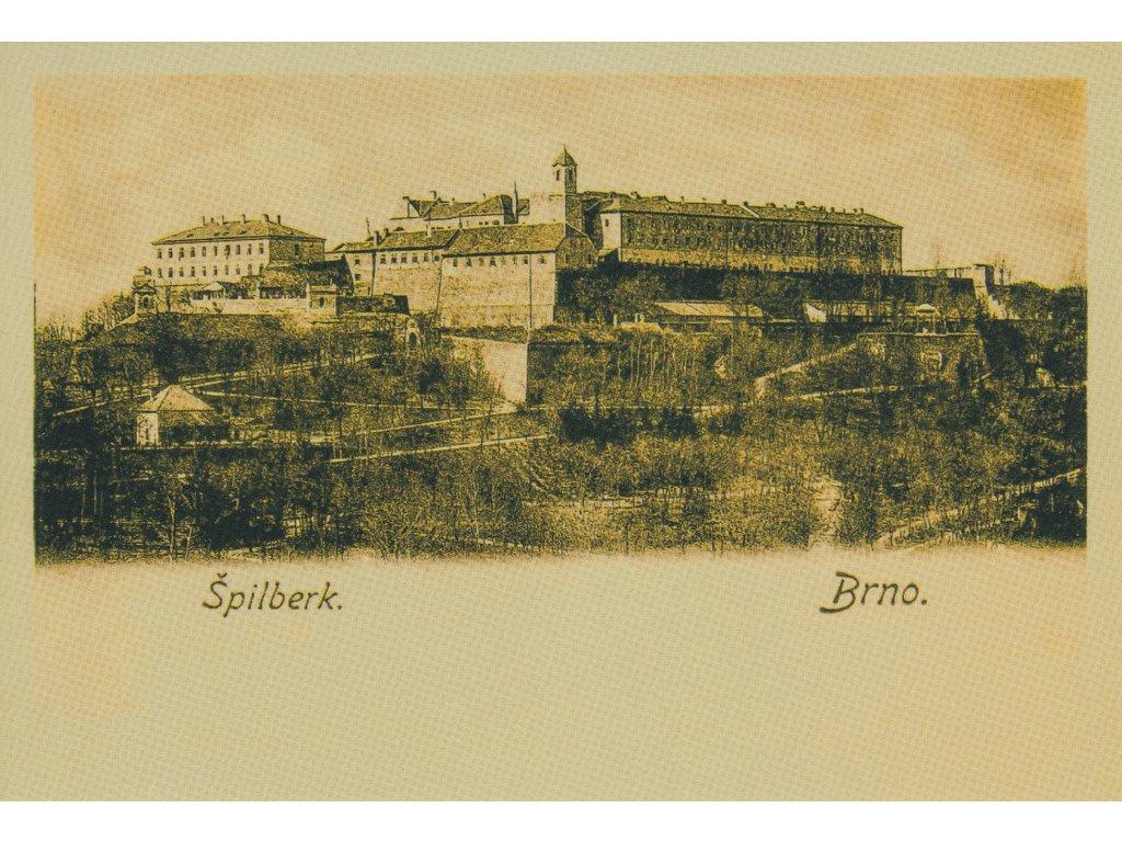 Postcard Brno - Špilberk castle, historical