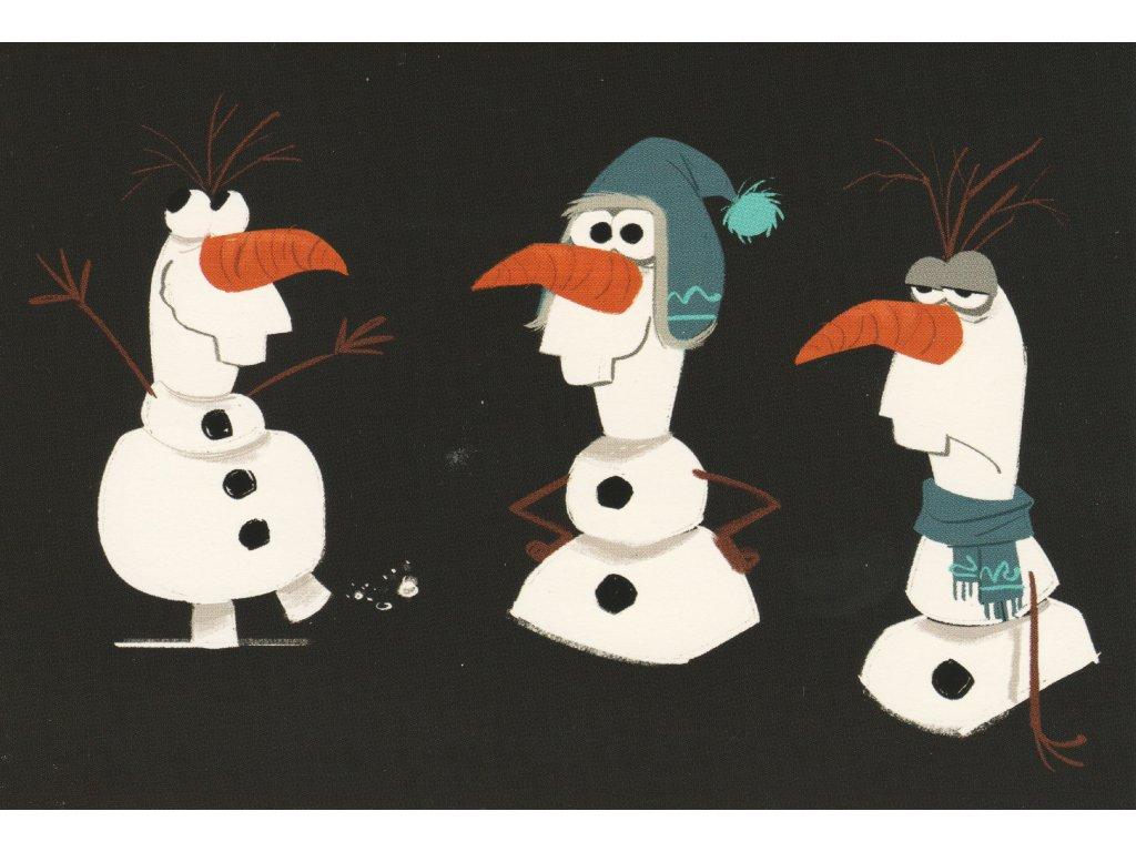 Postcard Frozen - Olaf 3x