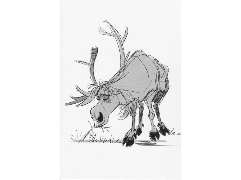 Postcard Frozen - Sven is grazing