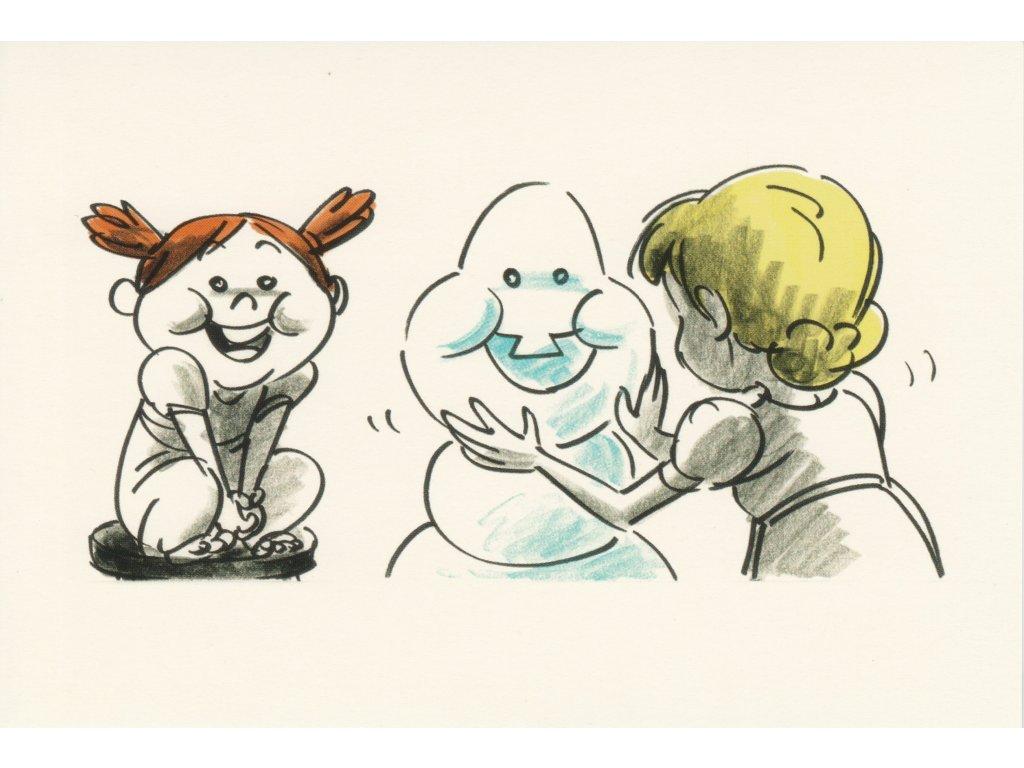 Postcard Frozen - Anna and Elsa as children