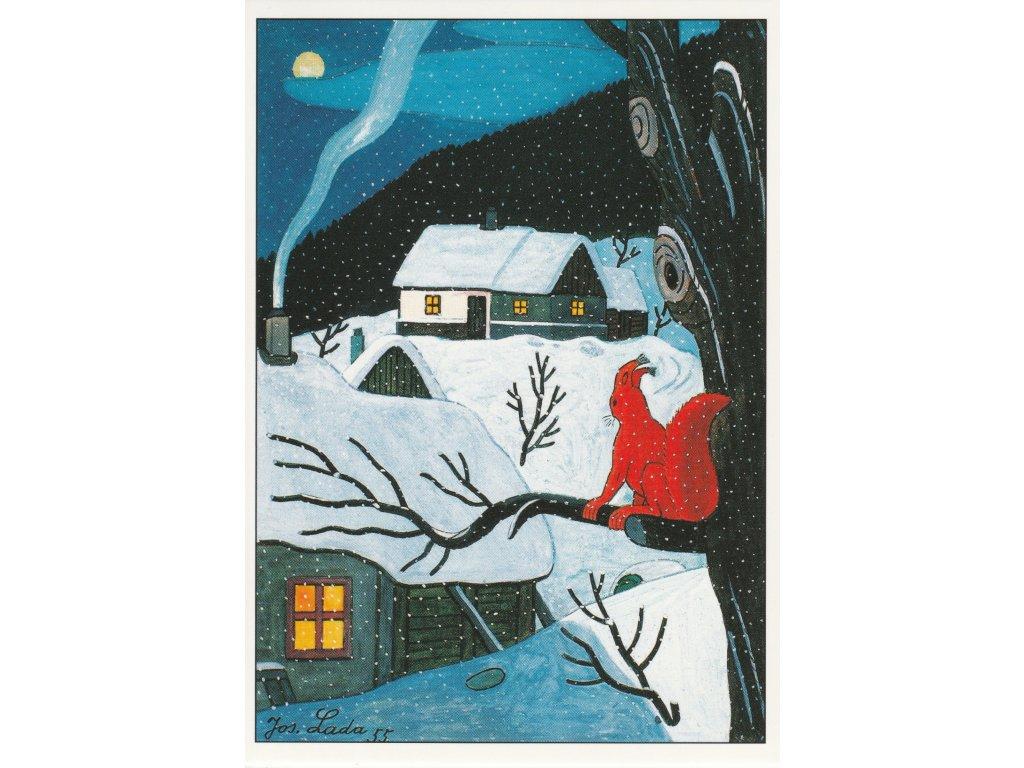 Postcard Josef Lada - Squirrel (1955)