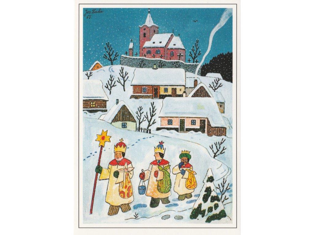 Postcard Josef Lada - Three Kings (1955)