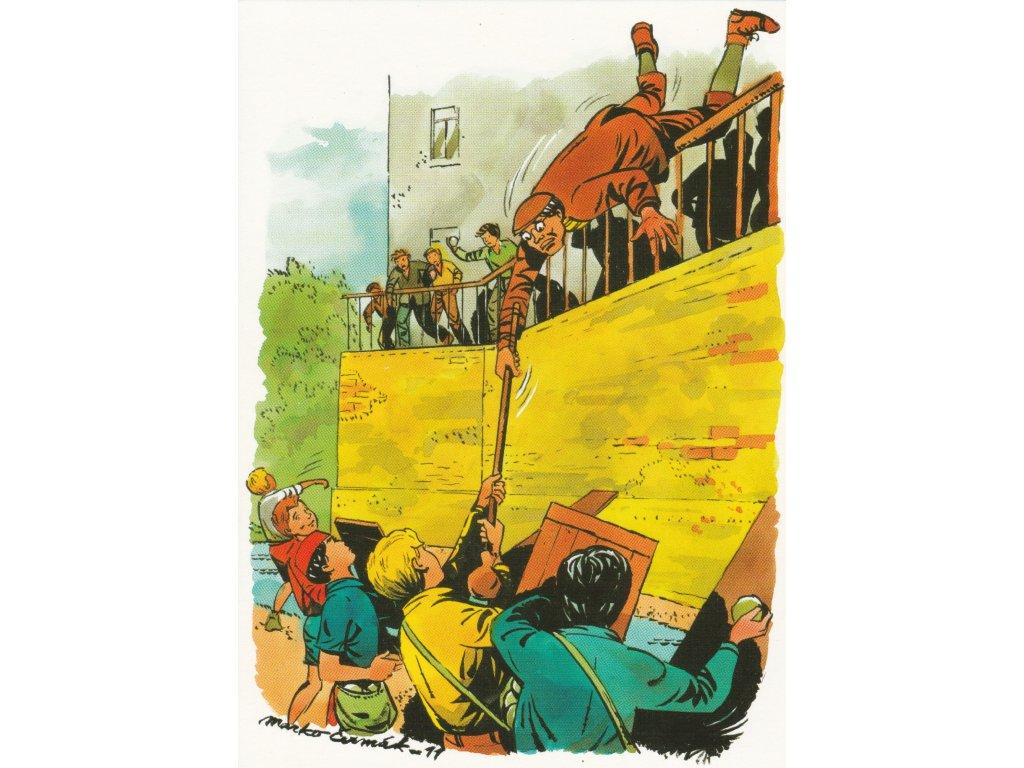 Postcard Rapid Arrows - fight with Podkováci