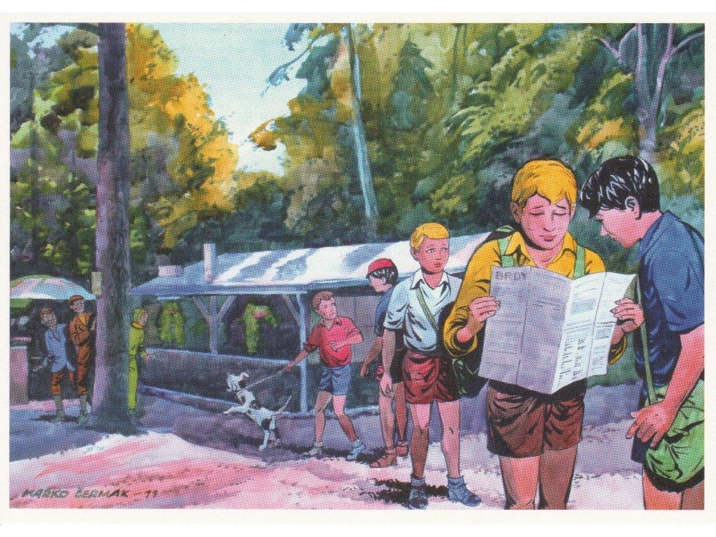 Postcard Rapid Arrows - in Brdy