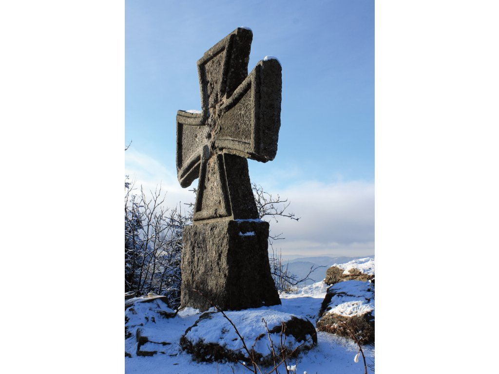 Postcard Monument to German soldiers (Jizera Mts.)
