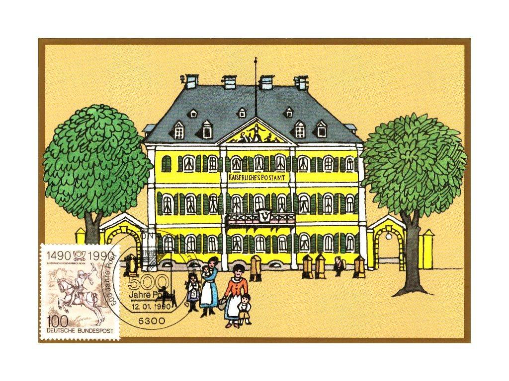 Postcard Maxicard 500 years of post 1
