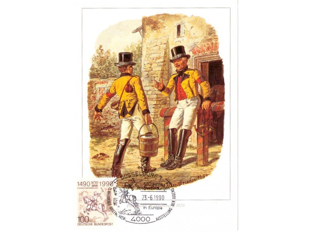 Postcard Maxicard 500 years of post 5