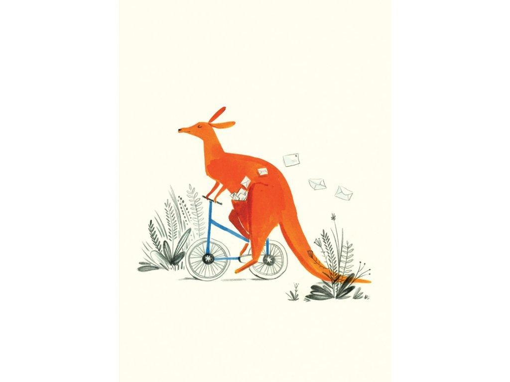 Postcard Kangaroo 17x12 cm