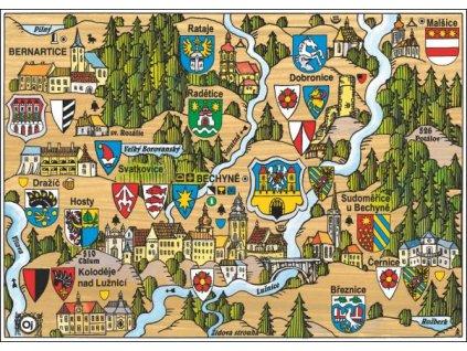 14654 4 pohlednice bechyne putovani krajinou s erby