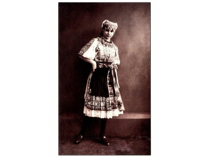 Postcards Girl in traditional costume