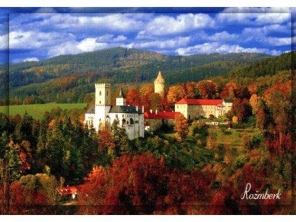 2810 2 pohlednice hrad rozmberk