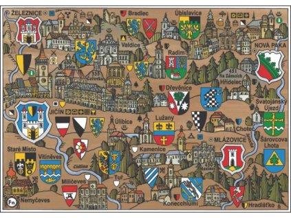 14651 4 pohlednice jicin putovani krajinou s erby