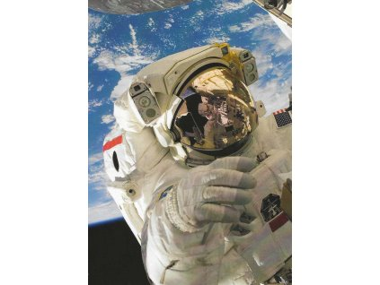 Postcard Astronaut in Space