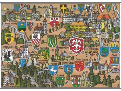 Postcard Litomyšl (Exploring the countryside with emblems)