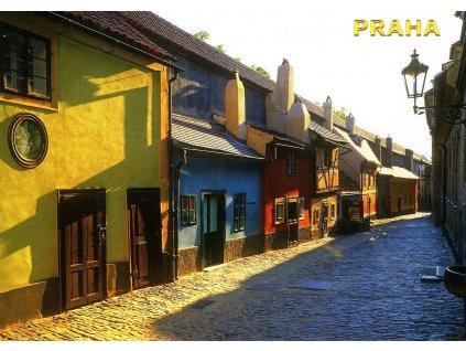140 pohlednice praha zlata ulicka