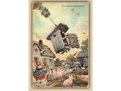 2045 2 pohlednice sedlaci reprint