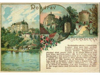 65 pohlednice sternberk reprint