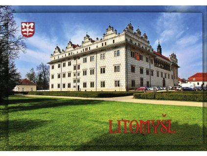 6017 2 pohlednice zamek litomysl