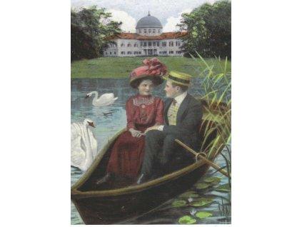 13700 3 pohlednice zamek veltrusy v lodce