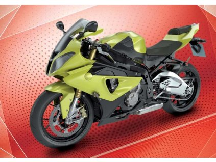 12752 3 pohlednice zelena motorka