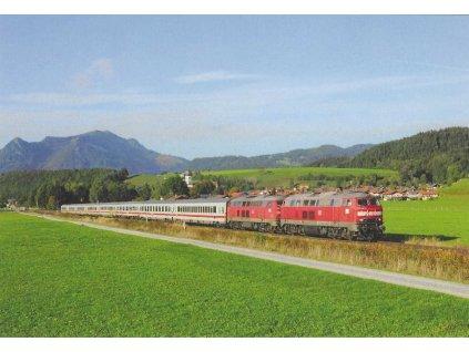 Postcard - Trains - 218 487-7 + 218 343-2