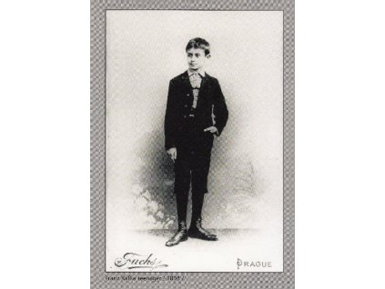 Postcard Franz Kafka teenager
