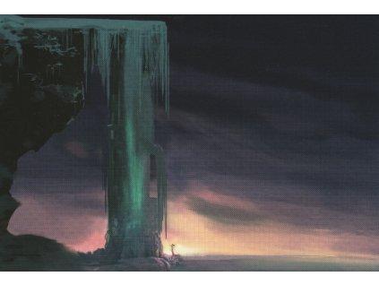 Postcard Frozen - frozen waterfall