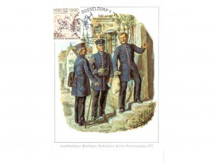 Postcard Maxicard 500 years of post 6