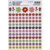 4826 1 mini samolepky kvetinky smajliky 11 5 x 17 cm