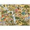 14168 4 pohlednice tyn nad vltavou a temelin putovani krajinou s erby