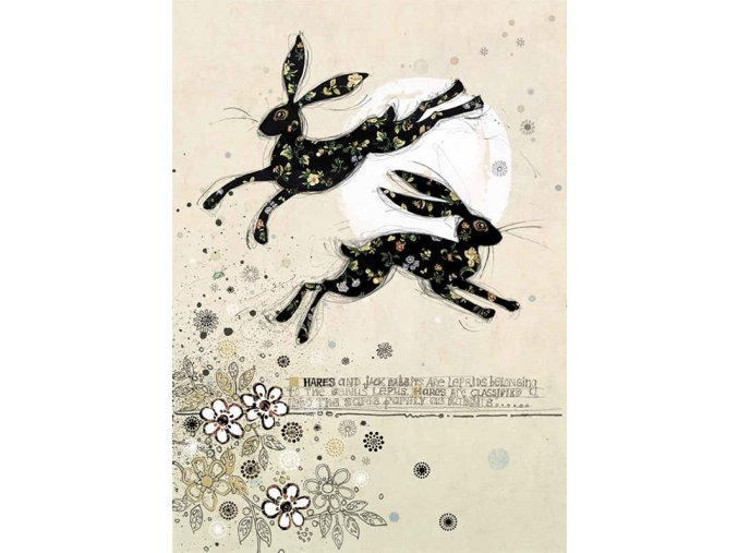 H010 Leaping Hares