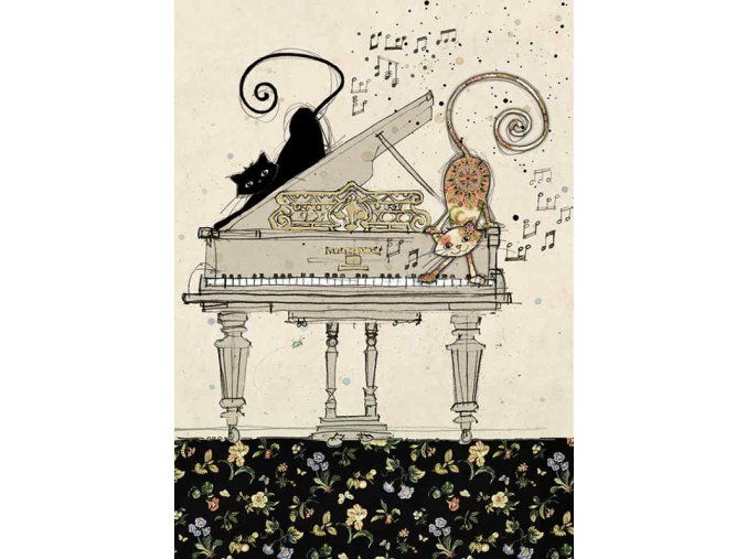 H011 Piano Cats