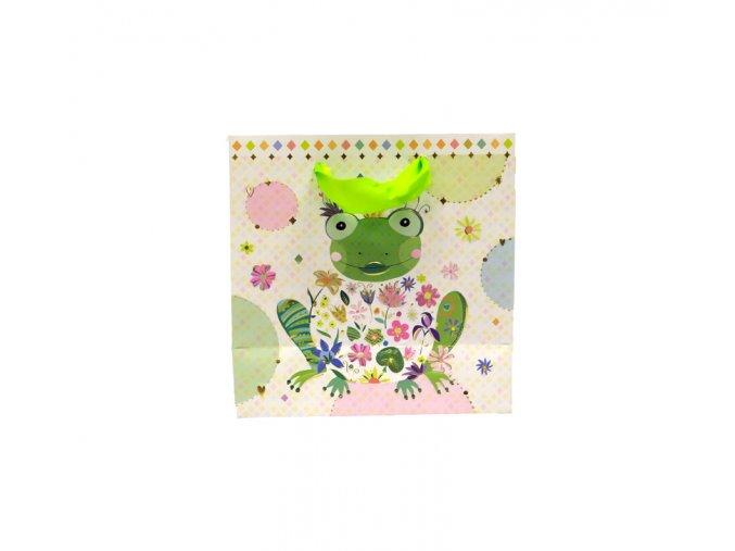 Dárková taška GOLDBUCH 10x10 cm, Happy frog