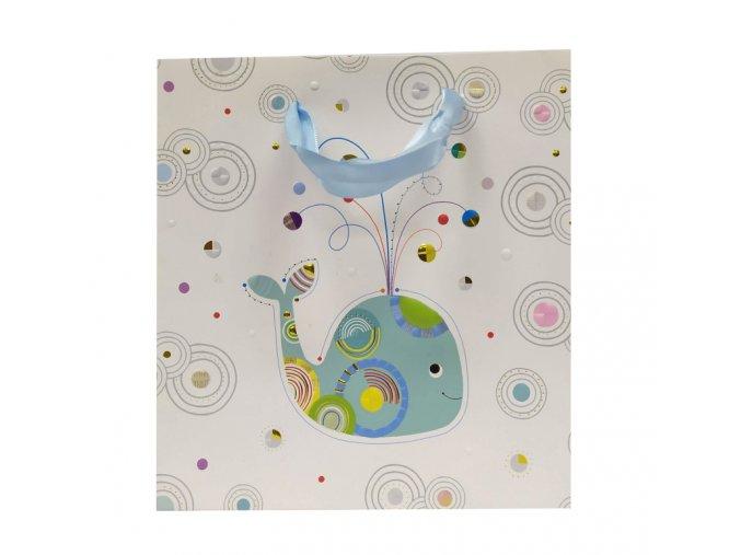Dárková taška GOLDBUCH 27x27 cm, Whale Serenity