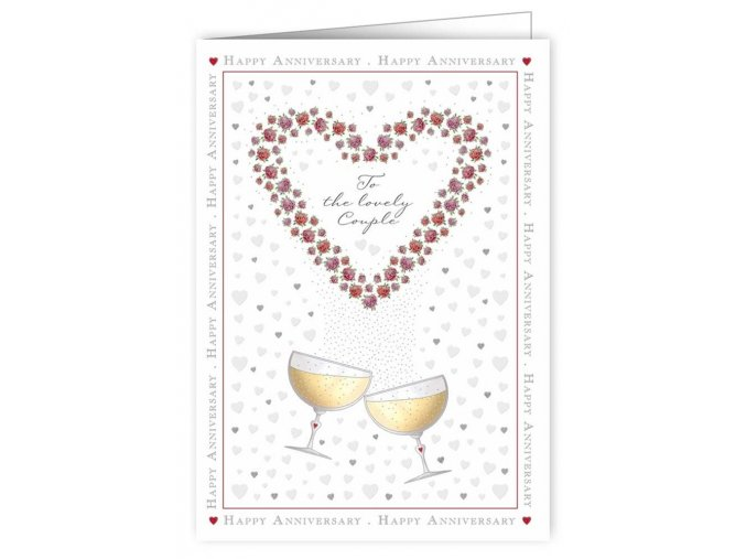 champagne flutes and hearts 3358