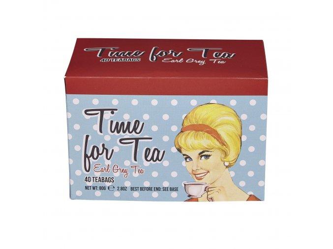 čaj krabička EC23, 40 sáčků (80g), TIME FOR TEA, NET