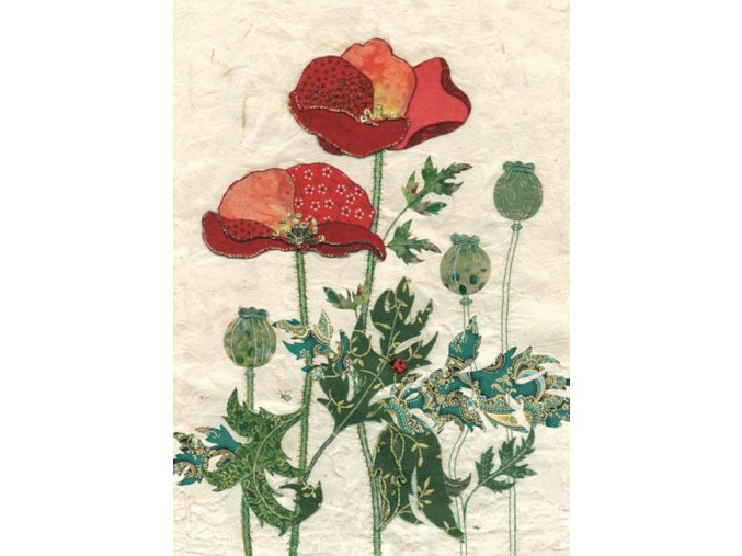 a021 pattern poppies
