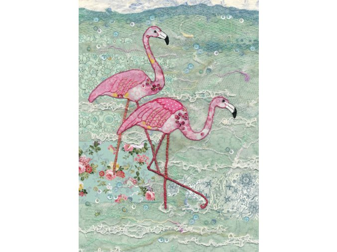 a027 flamingoes