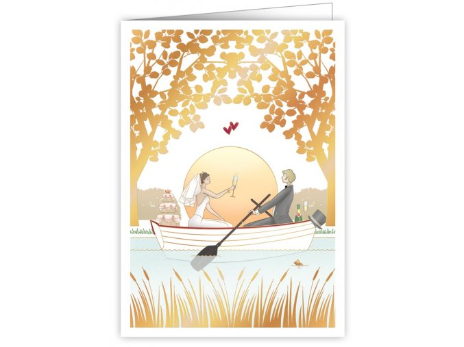 wedding rowing boat 3285