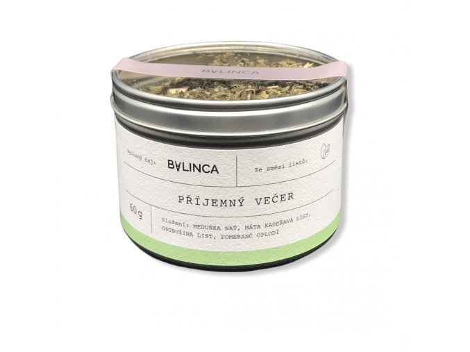 Bylinný čaj: Příjemný večer 60g BLNC219 BYLINCA