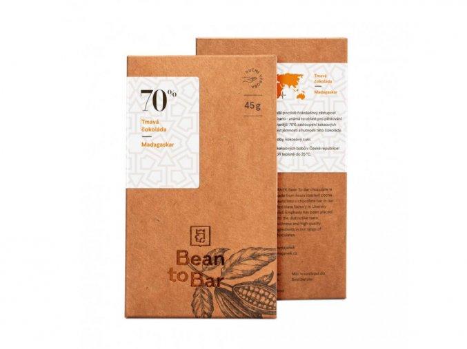 70% Bean to bar hořká čokoláda – Madagaskar 45g BLNC851 BYLINCA