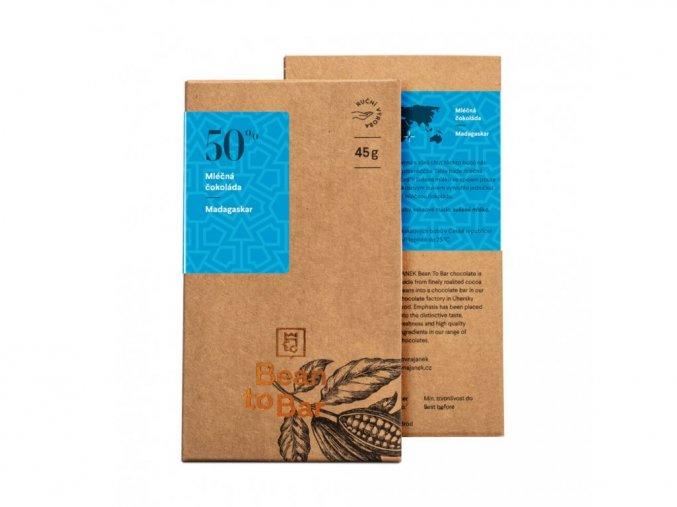 50% Bean to bar mléčná čokoláda – Madagaskar 45g BLNC853 BYLINCA