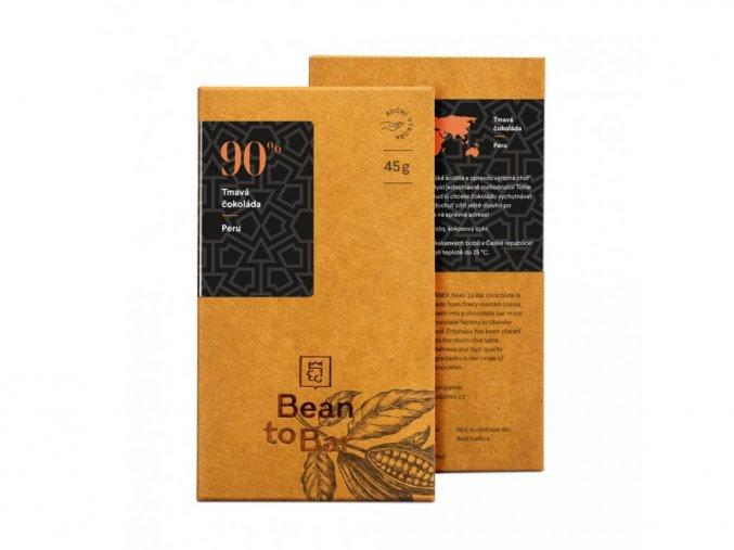 90% Bean to bar hořká čokoláda – Peru 45g BLNC854 BYLINCA