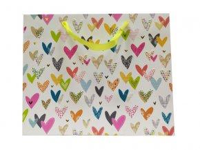 Dárková taška GOLDBUCH 27x33 cm, Lots of Hearts